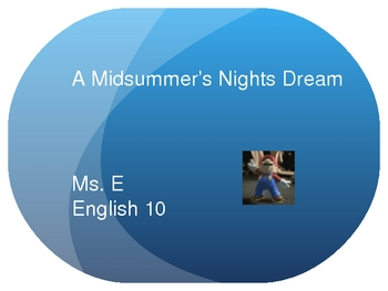Guide to A Midsummer Night's Dream: PPT