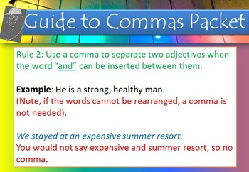 Guide to Commas Review