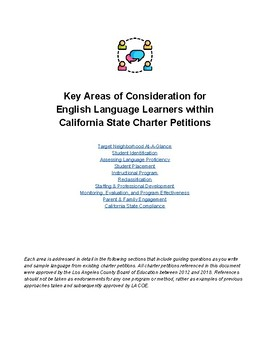 Guide to Comprehensive English Language Learner Supports in Charter Petitions