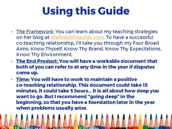 Guide to Creating a Strong Co-Teaching Relationship