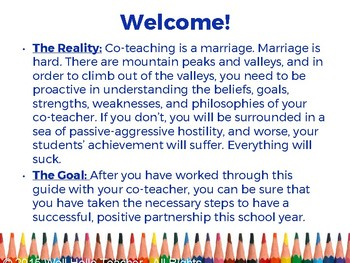 Create a Strong Co-Teaching Relationship in 30 Minutes