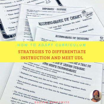 How to Adapt Curriculum Strategies to Differentiate Instruction and Meet UDL