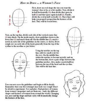 Guide to Drawing Men's and Women's Faces