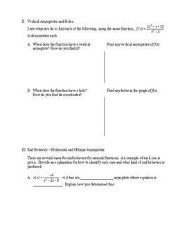 Guide to Graphing Rational Functions