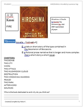 Guide to Hiroshima A Novella by Laurence Yep