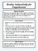 FREE Independent Reading Comprehension Worksheet