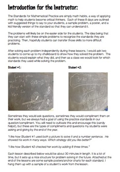 Guide to Introducing Standards for Math Practice to Your Students (Grades 3-5)