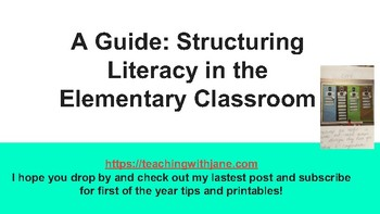 Guide to Literacy in the Elementary Classroom
