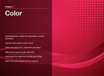 """Guide to Modern Yearbook Production - Lesson Two """"Color Th"""
