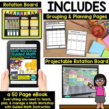 Guided Math Stations Rotation Board System