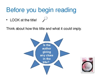 Guide to Pre Reading Strategies Powerpoint
