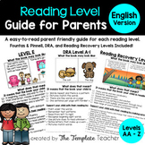 Reading Level Guide: Parent Handbook for their Child's Lev