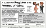 Guide to Language Features of Formal Writing (Register)