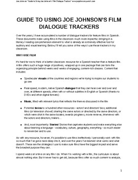 Guide to Using Joe Johnson's Film Dialogue Trackers