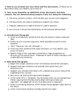 Guide to Writing a DBQ