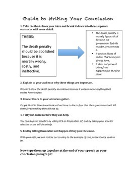 Guide to Writing a Persuasive Conclusion