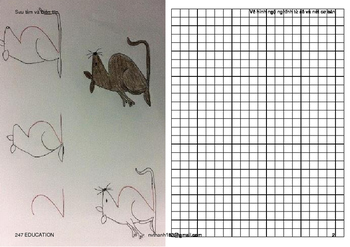 Guide to draw funny animal cartoon from number and basic curve