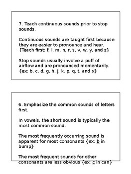 Guide to teaching Phonics