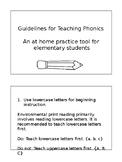 Guide to teaching Phonics