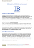 Guide to the IB ESS Internal Assessment (IA)