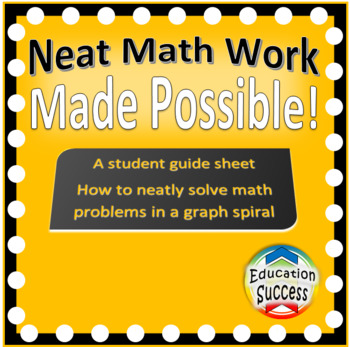 Guide to using a graph notebook for math work