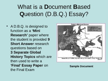 Guide to writing DBQ for Global History