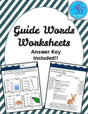 Guide words. Worksheets. Review.
