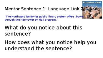 Guidebooks 2.0 Stories Julian Tells Mentor Sentence Powerpoint