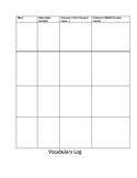 Guidebooks 2.0 Vocabulary Log