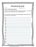 Guidebooks Grade 1 Sleeping Beauty Independent Writing Sheet