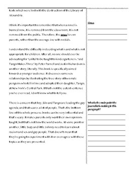 Guided Annotation Worksheet