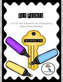 Guided Annotation with Key Points for Informational Text