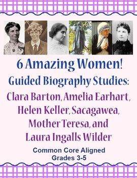 Guided Biography Study Set of 6 Amazing Women