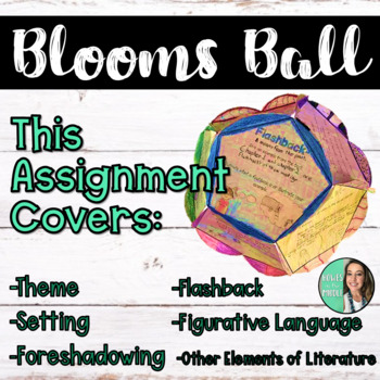 Guided Bloom's Ball Activity for ANY Novel