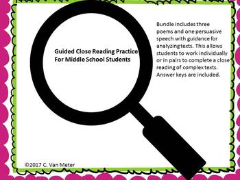 Guided Close Reading Bundle
