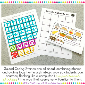 Guided Coding Stories - Old Lady Swallowed a Pie