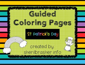 Guided Coloring Pages:  St Patrick's Day, PreK