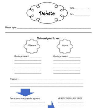 guided debate worksheet by peri winborne teachers pay teachers. Black Bedroom Furniture Sets. Home Design Ideas