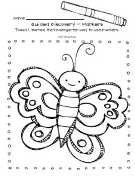 Guided Discoveries for Kindergarten - routines for materials