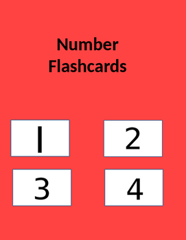1-100 Number Flash Cards