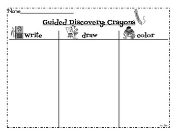 Guided Discovery for Crayons Sheet