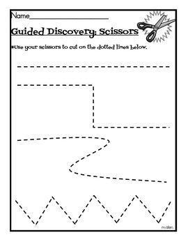 Guided Discovery for Scissors Sheeet