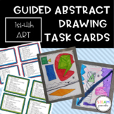 Guided Drawing: Abstract Task Cards {Regular Class or Sub Plan Activity}