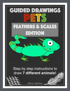 Guided Drawing Pack of 7. Birds, Reptiles and Amphibians