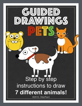 Guided Drawings Pack of 7 Pets.