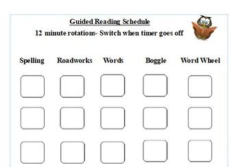 Guided ELA Weekly Student Checklist