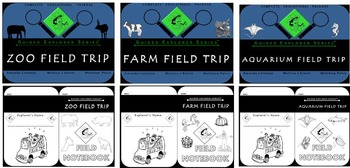 Guided Explorer Series Bundle 1: Zoo, Farm, Aquarium Field Trips (Best Deal!)