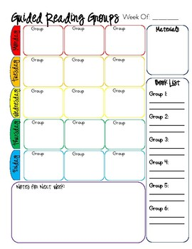 Guided Groups Planners and Notes