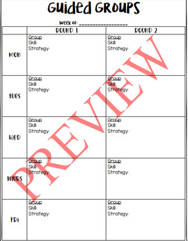 Guided Groups Schedule (EDITABLE!)