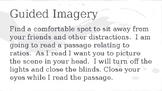 Guided Imagery with Ratios
